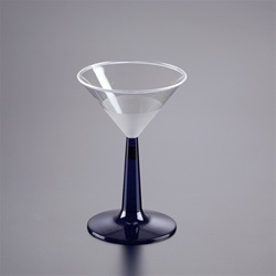 EMI Yoshi Martini Glass with Blue Base - 6 Oz.