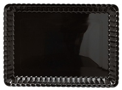 EMI Yoshi Resposable Black Serving Tray - 9 in. x 13 in.