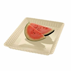 EMI Yoshi Resposable White Serving Tray - 9 in. x 13 in.