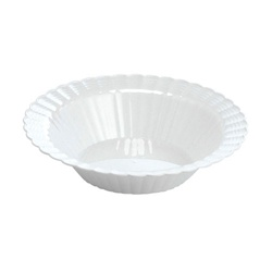 EMI Yoshi Resposable White Plastic Dessert Bowl - 12 oz.