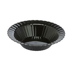 EMI Yoshi Resposable Plastic Black Dessert Bowl - 5 oz.