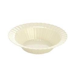 EMI Yoshi Resposable Plastic Bone Dessert Bowl - 5 oz.