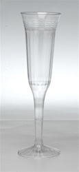 EMI Yoshi Champagne Fluted Glass 2 Pieces Clear - 5 Oz.
