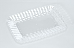 EMI Yoshi Resposable Clear Snack Tray - 5 in. x 7 in.