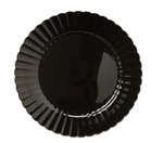 EMI Yoshi Resposable Black Dessert Plate - 6 in.