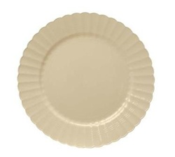 EMI Yoshi Resposable Bone Dessert Plate - 6 in.