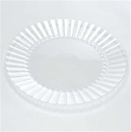 EMI Yoshi Resposable Clear Dessert Plate - 6 in.