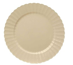 EMI Yoshi Resposable Bone Plastic Dinner Plate - 9 in.