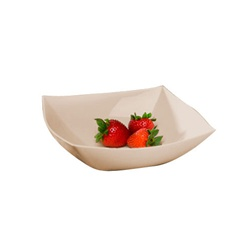 Square Serving Bowl Bone - 32 Oz Party Plastic Bowls