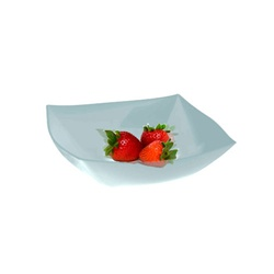 EMI Yoshi Square Plastic Serving Bowls Clear - 32 Oz.