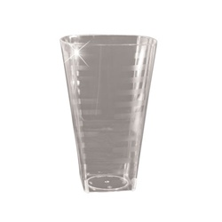 EMI Yoshi Extra Heavy Weight Square Tumbler Clear - 8 Oz.
