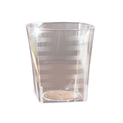EMI Yoshi Extra Heavy Weight Rocks Square Tumbler Clear - 9 Oz.