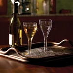 EMI Yoshi Poly Bagged Square Champagne Glass 1 Piece Clear - 8 Oz.