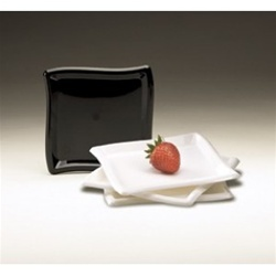 EMI Yoshi Square Wave Dessert Plate Clear - 6 in.