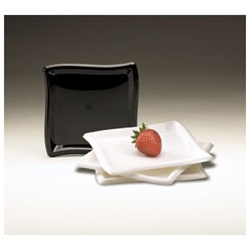 EMI Yoshi Square Wave Dessert Plate White - 6 in.