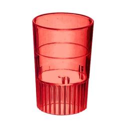 EMI Yoshi Neon Lights Shooter Glass Red - 1 Oz.