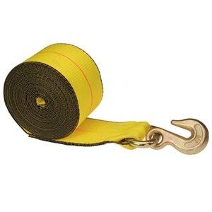 Winch Straps with Grab Hook - 4 in. x 27 in.