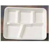 Genpak White Institutional School Foam Food Trays