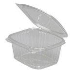 Secure Seal Deli Containers, 16 oz, 4.5in.Wx5.38in.Lx2.63in.H, Hinged, Regular Lid, Clear