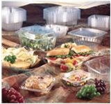 Secure Seal Deli Containers, 6.38in.Wx7.25in.Lx2.25in.H, 24 oz, Hinged, Regular Lid, Clear