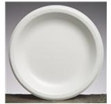 Elite Round Foam Laminate 8.88 in. Dia. White Plates