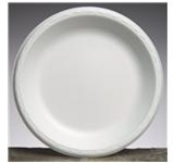 Elite Round Foam Laminate 10.25 in. Dia. White Plates