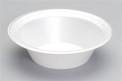 Elite Round Foam Laminate 12 oz. White Bowls