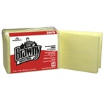 Dust-N-Clean Dusting Cloths, 1 Ply, 17in.Wx24in.L, Yellow, Disposable, 0.25-Fold, Poly-Pack
