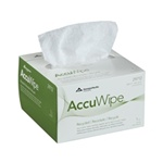 Shur-Wipe Delicate or Critical Task Wipers, 1 Ply, 4.5in.Wx8.25in.L, White, Pop-Up Box