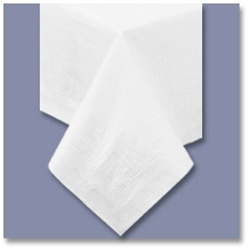 Poly Tissue Tablecover White - 72 in. x 72 in.