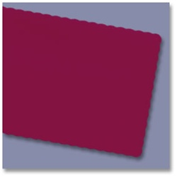 Economy 100 Percentage Recycled Scalloped Edge Placemats Burgundy - 9.5 in. x 13.5 in.