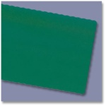 Economy 100 Percentage Recycled Scalloped Edge Placemats Hunter Green - 9.5 in. x 13.5 in.