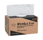 WypALL L10 Utility Wipers, 1 Ply, 9in.Wx10.5in.L, White, Disposable, Pop-Up Box