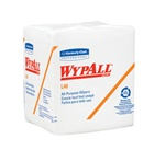 WypALL L40 Wipers, 1 Ply, 12.5in. Wx13in.L, White, Absorbent, 0.25-Fold