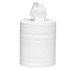 WypALL L40 Wipers, 1 Ply, 10in.Wx13.2in.L, White, Absorbent, Centerpull Roll