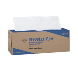WypALL L30 Wipers, 1 Ply, 16.4in.Wx9.8in.L, White, Lightweight, Pop-Up Box