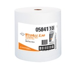 WypALL L30 Wipers, 1 Ply, 10.4in.Wx11in.L, White, Lightweight, Small Roll