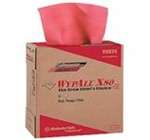 Wypall X80 Red Heavy-Duty Pop-Up Box 1 Ply 9.1 in. W x 16.8 in. L ShopPro Shop Towels