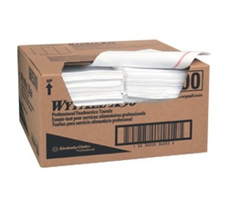 WypALL X50 Foodservice Towels, 1 Ply, 12.5in.Wx23.5in.L, White, 0.25-Fold