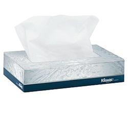 Kleenex Facial Tissue, 2 Ply, 8.5in.Wx5.75in.L, White, Signal Feature