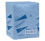 KimTech Prep Kimtex Wipers, 1 Ply, 12.5in.W x 14.5in.L, Blue, 0.25-Fold, Heavy Duty