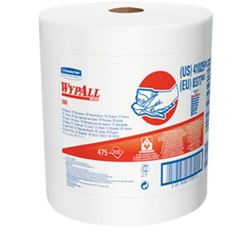 WypALL X80 ShopPro Shop Towels, 1 Ply, 12.5in.Wx13.4in.L, Jumbo, White, Heavy-Duty Roll