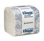 Kleenex Hygienic Bathroom Tissue, 2 Ply, 4.5in.Wx8.25in.L, White, Interleaved