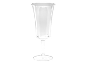 One Piece Wine 8 oz Disposable Glasses