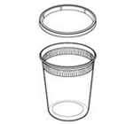 Delitainer Round Translucent 32 oz. Container and Lid Combos