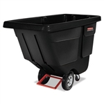 Rotomolded Tilt Truck Utility Duty Black - 56.8 in. x 28 in. x 38.6 in.