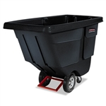 Utility Duty Rotomolded Tilt Truck Black - 72.2 in. x 33.5 in. x 43.8 in.