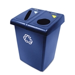 Two Stream Blue Glutton Recycling Station - 26.8 in. x 23.6 in.