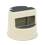 Curved Design Two Step Beige Step Stool
