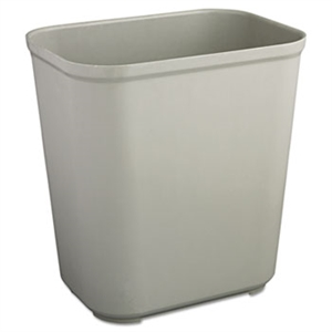 Fire Resistant Gray Wastebasket - 28 Qt.